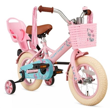 12 tommer pigecykel Little Miss Super Super Roze