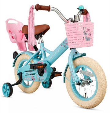 12 tommer pigecykel Little Miss Super Super - turkis