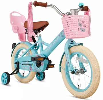 14 tommer pigecykel Little Miss Super Super turkis