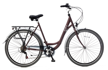 "28 "" Damecykel Popal  City  6 speed bordeaux"