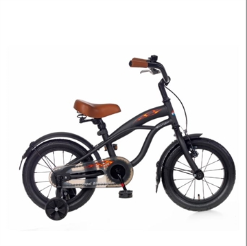 "Popal drengecykel fighter 14"" sort"