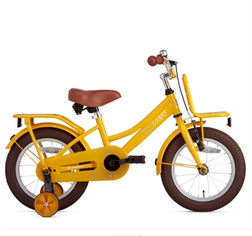 14 tommer pigecykel Cooper Bamboo gul