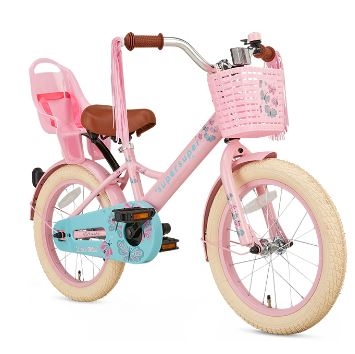 16 tommer pigecykel Little Miss Super Super roze