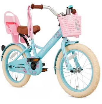 16 tommer pigecykel Little Miss Super Super turkis